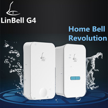 (2017 New Arrival) Linbell G4 wireless multi plug-in door chime no need battery door bell for apartments