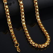 2017 Fashion Friendship Thick Gold Chain Necklace Male, New 70CM Long Mens Gold Chain Gold-color, Brand Jewelry Hot Sale Gifts