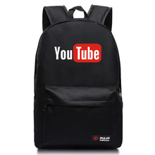 2017 Candy colors Backpacks for teenagers Youtube Logo Printed school bags Funny backpacks mochila men and women unisex student(China)