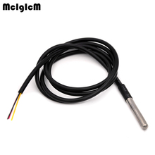 MCIGICM free Shipping 1pcs NEW DS18B20 waterproof 1 meters temperature probe temperature sensor new in stock Hot sale