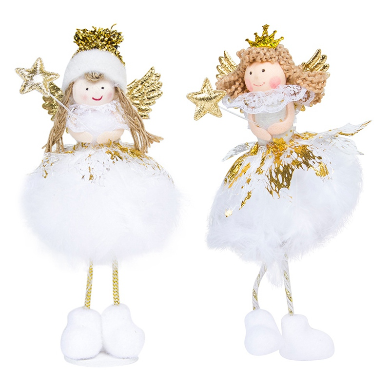 christmas angel doll toy christmas decorations for home christmas tree decorations xmas kids new year gifts - Christmas Angel Decorations