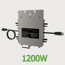 ETL listed 1200W Micro Grid Tie Inverter with powerline communication fuction 20-55V DC pure sine wave with mppt