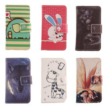 Exyuan Case For Vodafone Smart first 6 Cartoon Painting Cell Phone Accessory Book Design Flip PU Leather Cover Full Protection