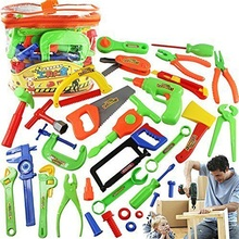 Colorful Kids Repair Tools Toys Baby Boys Girls Plastic Garden Instruments Kit Tools Toy Birthday Gift For Children Babies 34PCS(China)