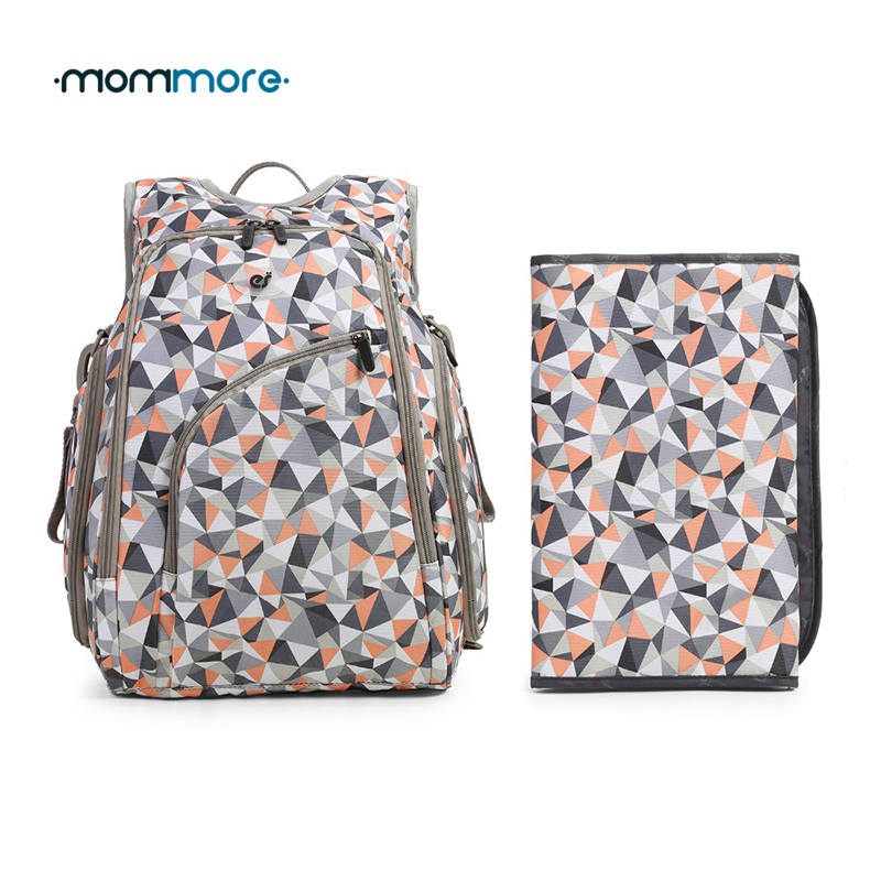mommore Diaper Backpack Fully-opened Baby Diaper Bag with Changing Pad Baby Diaper Backpacks Nappy Bags Multifunctional Changing<br>
