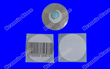 5000pcs/lot Round EAS RF soft label 8.2mhz for supermarket R40mm EAS checkpoint security soft tag free shipping(China)