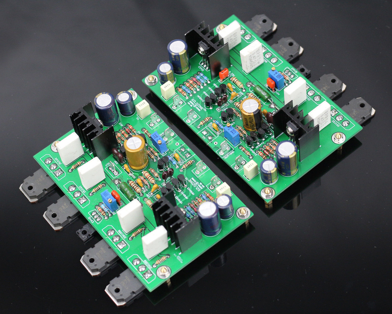 One Pair HM3S High Bias Class AB Amplifier Kit Base On GOLDMUND GM29 120W +120W