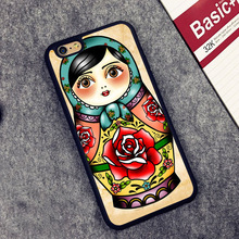 russian matryoshka doll Pattern Soft Rubber Mobile Phone Cases OEM For iPhone 6 6S Plus 7 7 Plus 5 5S 5C SE 4 4S Cover Bags Skin