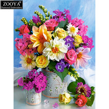 ZOOYA 5d diy Diamond embroidery colorful rose diamond painting Cross Stitch full drill Rhinestone mosaic home decoration