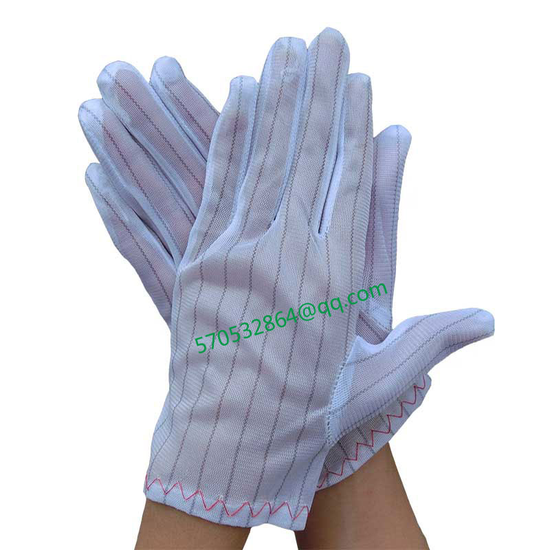 The anti-electrostatic grain has no the work protection labor insurance of dust homework gloves electronics factory gloves<br><br>Aliexpress
