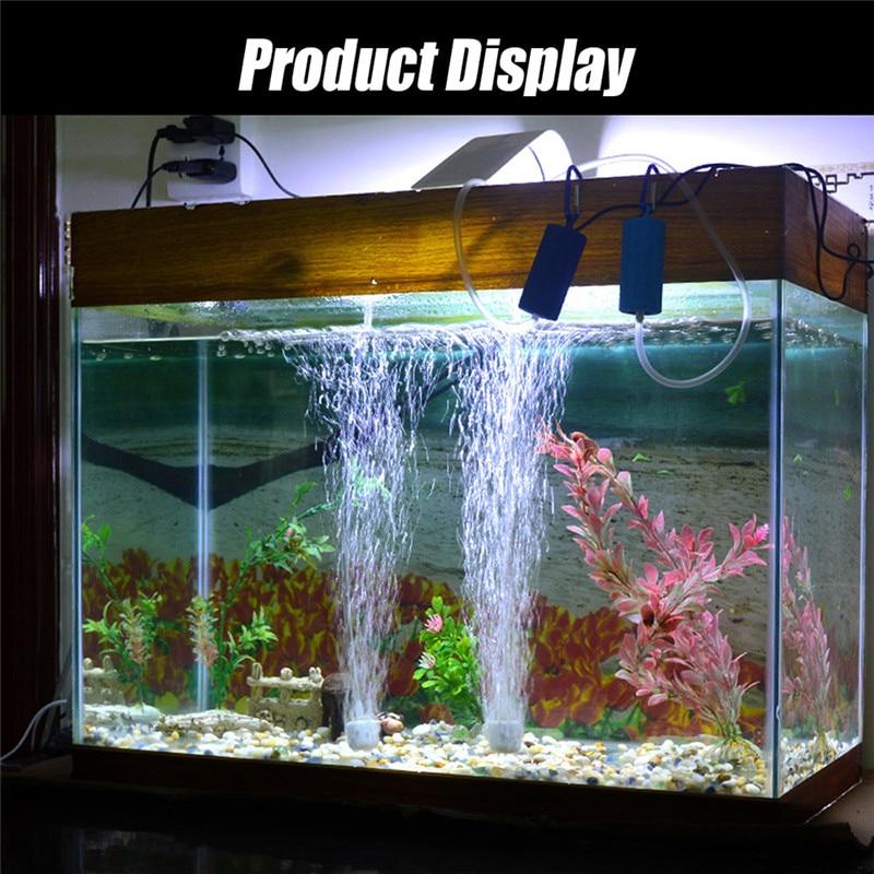 Aquarium Air Pump Portable Mini USB Oxygen Air Pump Mute Energy Saving Supplies Aquatic Terrarium Fish Tank Accessories 07