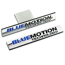 Blue Motion For Volkswagen Metal Car Stickers for VW Polo Sagitar CC Scirocco Tiguan Golf 5 6 7 Grille Car Styling Accessories