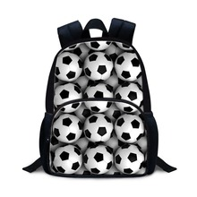 Ball Printed Small Backpack for Preschool students Soccerly Kindergarten Mini Day Pack for Kids Little Boys bookbags mochilas