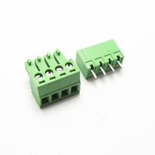 10 sets 3.81 4pin Terminal plug type 300V 8A 3.81mm pitch connector pcb screw terminal block free shipping