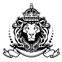 15*14.2CM Lion Of Judah Ornate Graphical Car Stickers Vinyl Car Styling Decals Black/Silver C9-1549