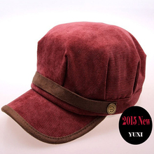 Women's Winter Hats Baseball Caps Hot New Brand Female Warm Corduroy Leisure Outdoor Flat Gorras Planas Hip Hop A Cap HAT0138
