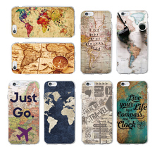 Buy OLOEY World Map Travel Just Go Soft Clear Phone Case Cover Coque Fundas iPhone 5 6 6Plus 7 7Plus 8 8Plus X Fundas Cover for $1.59 in AliExpress store