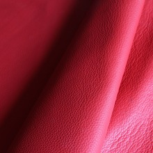 21*14CM leather material manual DIY leather material leather red litchi skin material imported leather