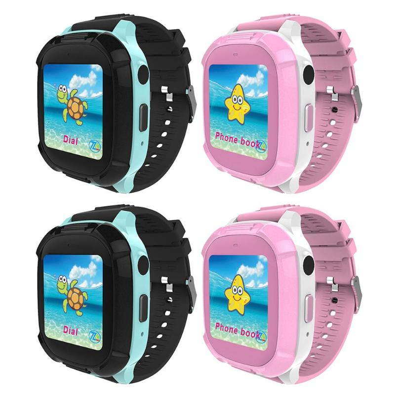 Children Protect Watch 1.4 inch Touch Screen 0.3MP Children Smart Watch IP67 Waterproof GPS Tracker SOS Wristband with SIM Card