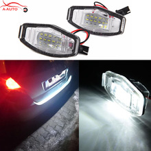 2 x LED Number Car License Plate light Lamps Error Free 18 LED SMD 3528 For Honda Accord 4D Civic City Legend