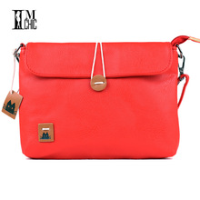 Women Messenger Bags Vintage Pu Leather Preppy Style Candy Color Retro Cross Body Handbag School Ladie Casual bolsas button 027