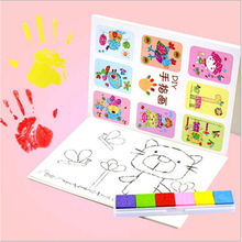DIY 8Pcs/set Children Colorful Fingerpaint Drawing Education Learning Picture Toy Cartoon Kid Finger Painting Craft Set Hot Sale(China)