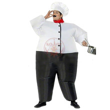 Chef Inflatable Costume Adult Fancy Dress Suit Party Halloween Costumes Adults Christmas Xmas Gift Classic Halloween Costumes