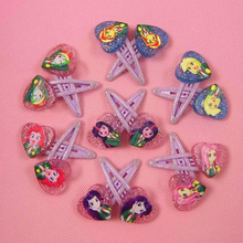 14pcs Newly Design Hair Accessories My Cute little Ponys Hair Clips Cartoon Heart Shapd Kids Hairpins Cute Girl Hair Ornaments