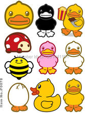 A4 Size Rubber Duck Skateboard Snowboard Luggage Car Bike Vinyl Stickers F0078
