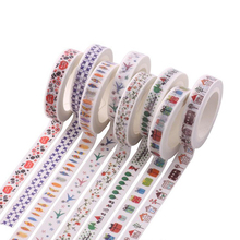 10pcs/lot Washi Tape Fun stationery Masking Tapes DIY adhesive stickers Diary notebook supplies School kids gift zakka (tt-2833)