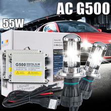One set Xenon h4 bixenon hid kit AC 12V 55W H4 Bi xenon lamp H4 Hi/lo beam bulb 4300k 5000k 6000k 8000k(China)