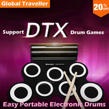 Roll up Electronic Drum Hi-Fi Speakers Built-in Metronome Internal USB interface Able To Connect PC To Play Games Portable