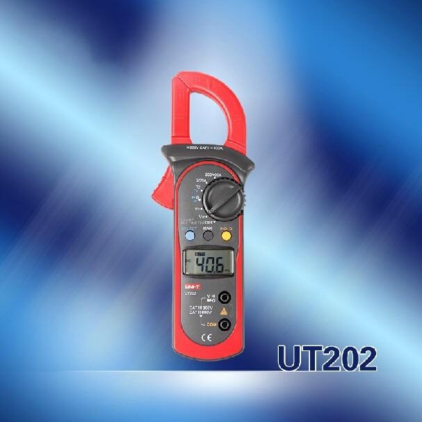 Original High Accuracy UNI-T UT202 Digital Clamp Multimeters DMM DCV ACV AC Auto Aange Temperature<br>