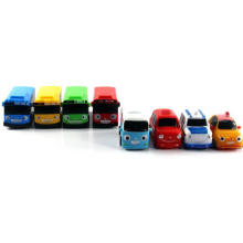 2017 New 8pcs/lot South Korean cute tayo road bus inertia car educational toys for children