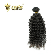 QWB Tight Curly Free shipping 12''~28'' Brazilian Virgin Hair Nature Color  100% Human Hair Weaving