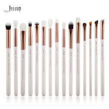 Jessup Pearl White/Rose Gold Professional Makeup Brushes Set Make up Brush Tools kit Eye Liner Shader natural-synthetic hair