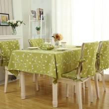 Printed Dinette Tablecloth for a Table with Embroidery Cotton Canvas Kitchen Table Cover for Home Restaurant Party LK094