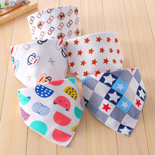 2017 1Pc New Design Cute Infant Saliva Towel Cotton Double Buckle Baby Children Bib Aprons Waterproof(China)