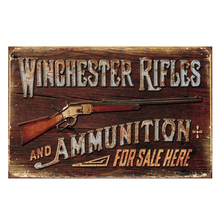 Winchester rifles for sale here. vintage tin signs retro metal plate the wall decoration for bar cafe garage(China)