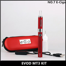 Highest Quality--EVOD MT3 Electronic Cigarette kits 1.6ml MT3 Atomizer 1100mah EVOD Battery Ego e Cigarette Single or Double Kit