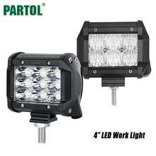 "Partol 4"" 30W 36W Work Light LED Light Bar Flood Spot Beam Offroad Driving LED Bar Light for Truck Boat Tractor SUV ATV 4x4 4WD(China)"
