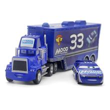 2pcs/set Pixar Cars MOOD SPRINGS No.33 Racer & Mack Truck set Loose Rare Diecast 1:55 Metal Toys FreeShipping