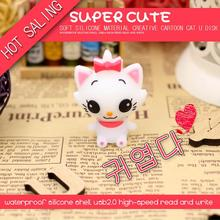 Cute Cartoon Cat USB Flash Drive Memory Stick Pendrive USB Stick Pen Drive 32GB 16GB 8GB 4GB Flash Card Free Shipping