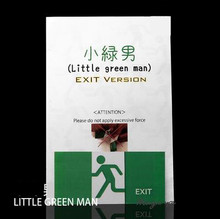Free shipping New Arrivals Little Green Man (Gimmick+paper instruct),Magic Trick,Card Magic,Close Up,Illusion,Mentalism