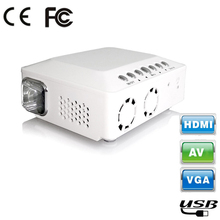 White!1000lums Portable Mini LED Projector DLP Projectors for Home theater Office Class Projectors AV VGA USB 265g