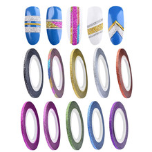 10 Colors Rolls 2mm Striping Tape Line Rough Styles Nail Art Tips Decals  2017 Hot product discount beauty