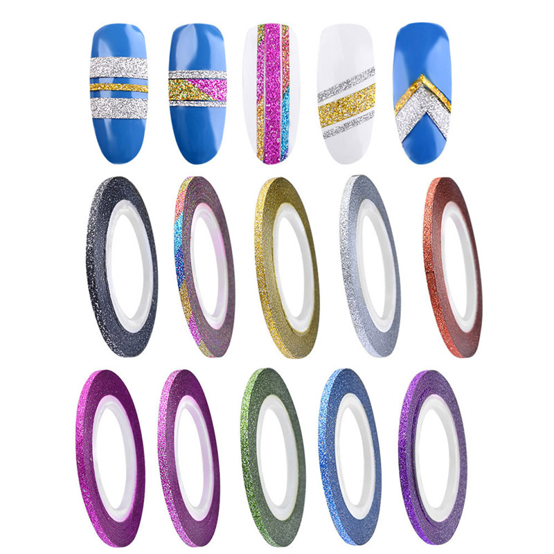 10 Colors Rolls 2mm Striping Tape Line Rough Styles Nail Art Tips Decals 2017 Hot product discount beauty(China (Mainland))