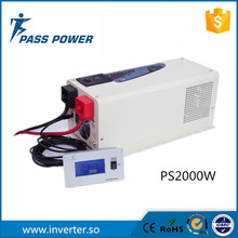 High reliable and cost-effective uninterruptable power supply (UPS),DC to AC power inverter 2000W with external LCD display