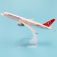 16cm Alloy Metal Air TURKISH Airlines Boeing 777 B777 Airways Plane Model Airplane Model w Stand Aircraft Crafts Gift