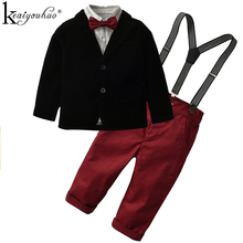 New 2018 Kids Clothes Autumn Children Clothing Boys Set Fashion Gentleman Suit T-shirt+Jeans Boys Clothes Sets Outfits Suits